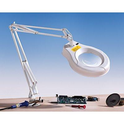 Lampe loupe à LED - grossissement 175 % - lentille de 3 dioptries, Ø lentille 120 mm