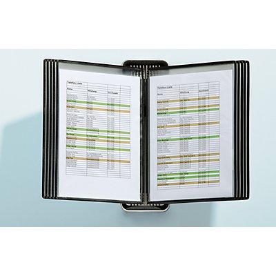 Tarifold, VEO Sichttafelsystem VEO für Format DIN A4 - Wandsystem - Halterung und 10 Sichttafeln