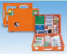 Trousse de secours spécialisée - contenu adapté aux risques professionnels conforme à la norme DIN 13157