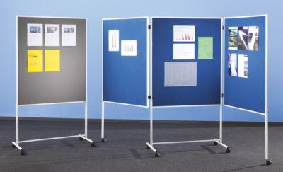 QUIPO mobile Präsentationswand - HxBxT 1960 x 1000 x 670 mm, einteilig