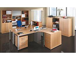 VIOLA Schreibtisch - BxT 1800 x 800 mm, 4 Rundrohrbeine