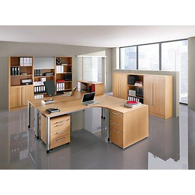 Hammerbacher VIOLA Schreibtisch - BxT 1800 x 800 mm, 4 Rundrohrbeine