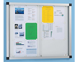 QUIPO Schaukasten, Schiebetüren - 8 (2 x 4) DIN-A4-Blätter