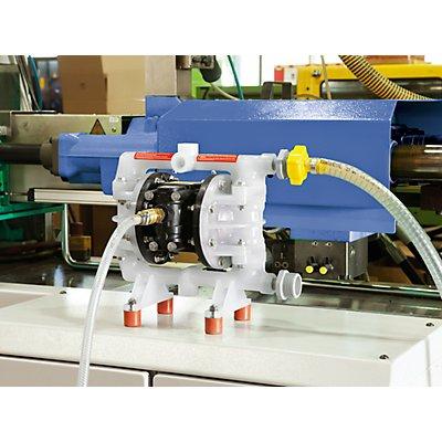 Lutz Druckluft-Doppelmembran-Pumpe - für korrosive Flüssigkeiten, anorganische Säuren, Laugen, Plattierbad-Lösung
