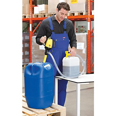 Lutz Behälterpumpen-Set, elektrische Pumpe inkl. Zubehör - Pumpwerk aus Polypropylen - Tauchtiefe 500 mm