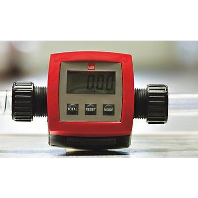 "Durchflussmengenzähler PP - Messbereich 5 bis 90 l/min - Betriebsdruck 2 bar, Anschluss G 1\"""