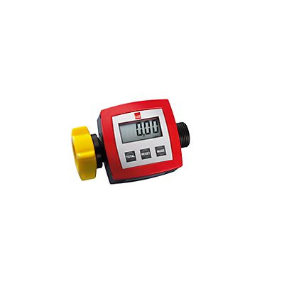 Durchflusszähler für elektrische Fasspumpe - Durchflussmengenzähler PP, Messbereich 5 – 90 l/min - Betriebsdruck max. 2 bar, Genauigkeit ±1%