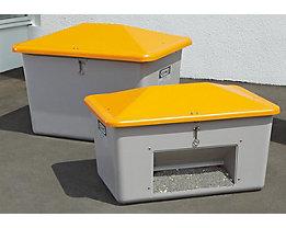 CEMO Streugutbehälter aus GfK - mit Entnahmeöffnung - Inhalt 1100 l, Gewicht ca. 52 kg