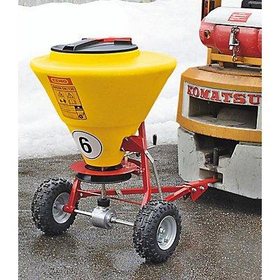 CEMO Streuwagen - für große Streuflächen, 130 Liter - Streubreite bis 4 m
