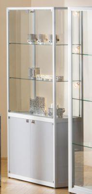 Glasvitrine mit Unterschrank - Standvitrine, HxBxT 2000 x 800 x 400 mm