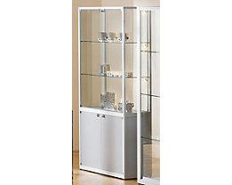 Vitrine à compartiments - 2 portes pivotantes, h x l x p 2000 x 500 x 400 mm