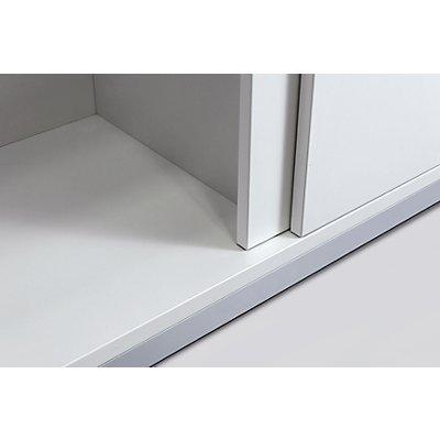 fm büromöbel HANNA Schiebetürschrank - 2 Fachböden, HxBxT 1133 x 1600 x 442 mm