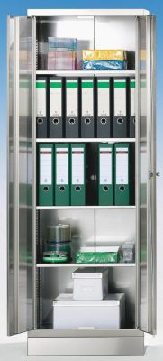 Edelstahlschrank - Akten-/Lagerschrank - HxBxT 1800 x 600 x 500 mm