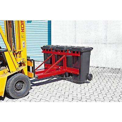 Mülltonnenheber - für 3 Tonnen - verzinkt