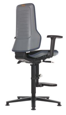 bimos Arbeitsdrehstuhl mit Alugestell - mit Gleitern und Aufstieghilfe