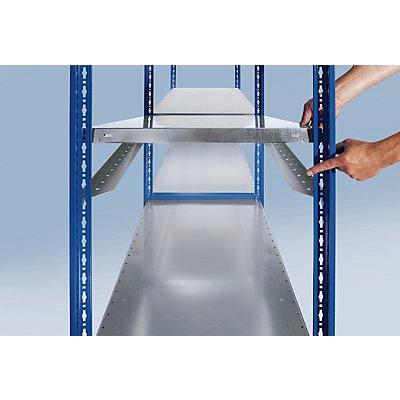 EUROKRAFT Steckregal, doppelreihig - Fachboden-BxT 1000 x (2 x 600) mm