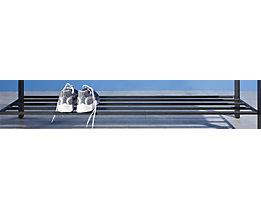 Schuhrost aus Stahlprofilen - graphitgrau - LxT 1000 x 400 mm