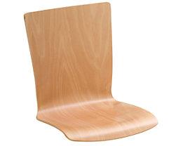 Lot de 2 chaises coques - hêtre naturel, rectangulaire, non rembourré