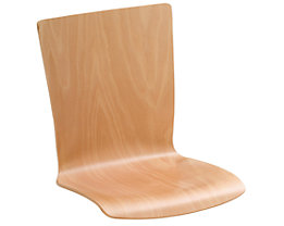 Holz-Schalenstuhl, VE 2 Stk - Buche natur, eckig, ohne Polster