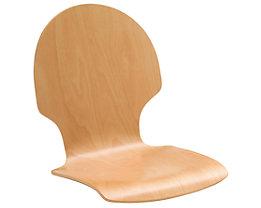 Lot de 2 chaises coques - hêtre naturel, rond, non rembourré