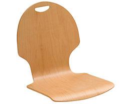 Lot de 2 chaises coques - hêtre naturel, fente-poignée, non rembourré
