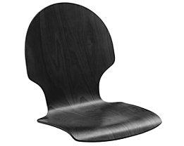 Holz-Schalenstuhl, VE 2 Stk - Buche schwarz, rund, ohne Polster