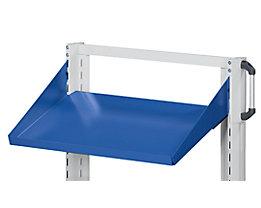 ANKE Ablageboden - schräg, Aufkantung 75 mm - BxT 800 x 250 mm, blau
