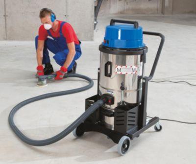 EUROKRAFT Industrie-Trockensauger - Sicherheitssauger, 1400 Watt  - 27-l-Behälter