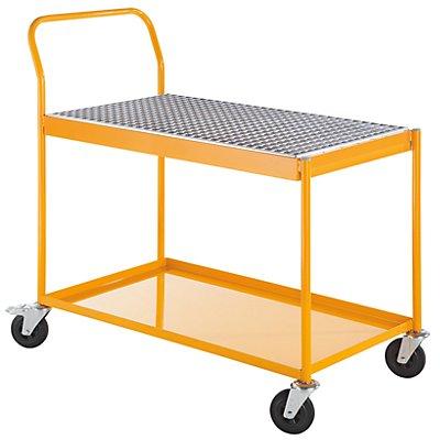 QUIPO Industrie-Tischwagen - mit 60-l-Auffangwanne - Tragfähigkeit 150 kg