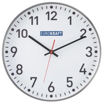 EUROKRAFT Wanduhr, Ø 300 mm - Quarzuhrwerk