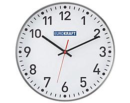 EUROKRAFT Wanduhr, Ø 300 mm - Funkuhrwerk