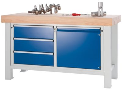Schwerlast-Werkbank - Plattenbreite 2250 mm, ohne Unterbau