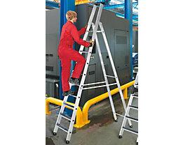 Stufen-Stehleiter mit clip-step Auflage