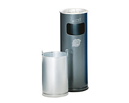 Kombiascher - rund, Stahlblech, Höhe 660 mm, Ø 230 mm