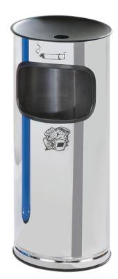 Edelstahl-Standascher mit Abfallbehälter - Höhe 710 mm - Abfallvolumen 44 l