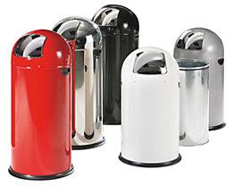 Push-Abfallsammler - aus Stahlblech, mit 52 Liter Volumen