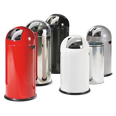 Push-Abfallsammler - aus Stahlblech, Volumen 40 Liter