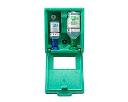 Notfall-Wandbox mit Augenspülflaschen - 1 x Kochsalzlösung, 1 x pH-neutral