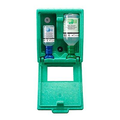 Notfall-Wandbox mit Augenspülflaschen - 1 x Kochsalzlösung, 1 x pH-neutral - HxBxT 270 x 225 x 110 mm