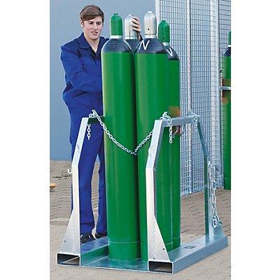 Gasflaschenpalette - für 4 Flaschen - LxBxH 600 x 860 x 1000 mm