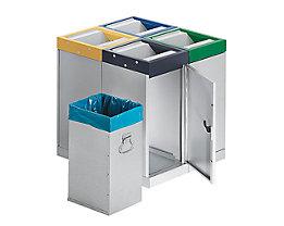 Collecteur de tri à couvercle basculant - centre de tri à 4 collecteurs