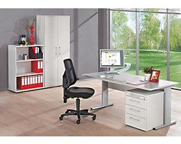 PETRA Komplettbüro - inklusive Bürodrehstuhl - lichtgrau