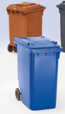 Großmülltonne aus Kunststoff, nach DIN EN 840 - Volumen 360 l, HxBxT 1100 x 600 x 874 mm, Rad-Ø 200 mm