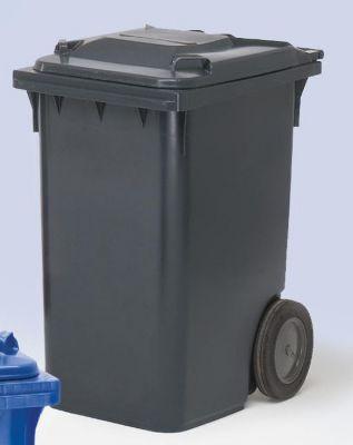 Großmülltonne aus Kunststoff, nach DIN EN 840 - Volumen 360 l, HxBxT 1100 x 600 x 874 mm, Rad-Ø 300 mm