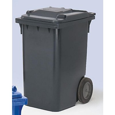 Conteneur à déchets en plastique conforme à la norme DIN EN 840 - capacité 360 l, h x l x p 1100 x 600 x 874 mm, Ø roues 300 mm