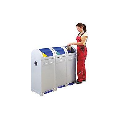 EUROKRAFT System-Wertstoffsammler 40 l - mit Abfallsackhalter, fußbetätigt