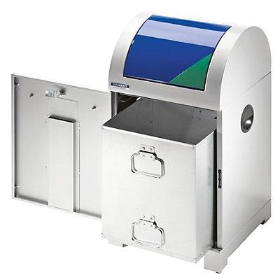 EUROKRAFT System-Wertstoffsammler 40 l - mit Innenbehälter, handbetätigt