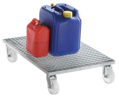 EUROKRAFT Gitterrost-Transportroller - Tragfähigkeit 500 kg
