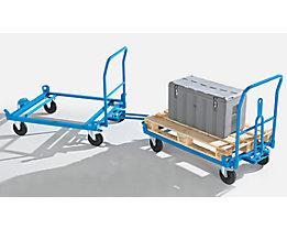 EUROKRAFT Fahrgestell mit Zugdeichsel und Kupplung - Tragfähigkeit 500 kg