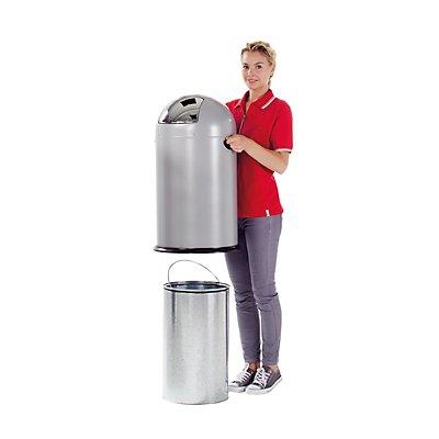 VAR Push-Abfallsammler - aus Stahlblech, Volumen 40 Liter